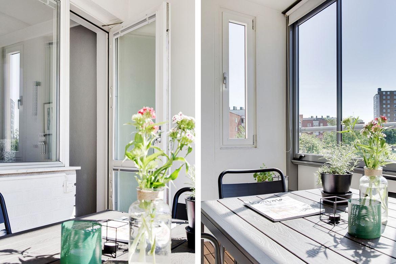 balkong mörka möbler home styling