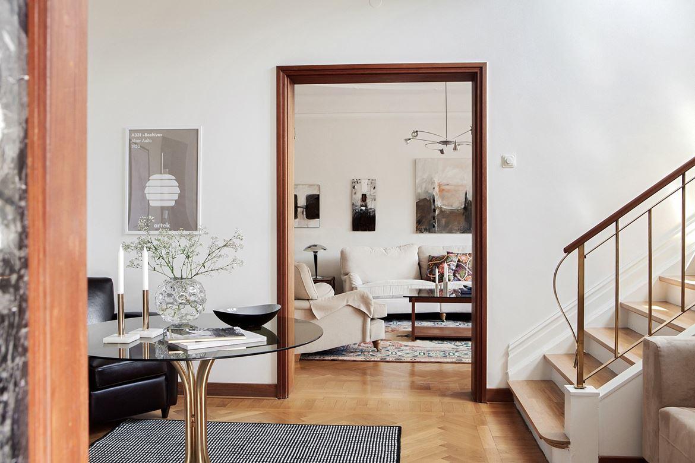 vardagsrum lounge inredning svart matta