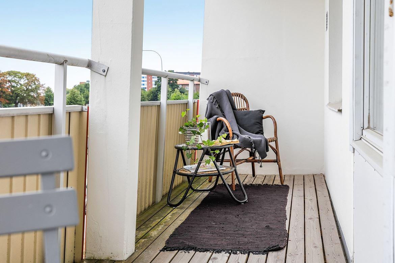 inredning balkong matta lounge